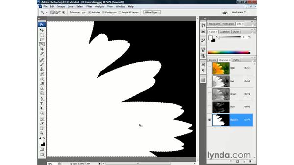The Wand's fake antialiasing: Photoshop CS3 Channels and Masks: The Essentials