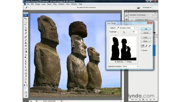 Using the Color Range command: Photoshop CS3 Channels and Masks: The Essentials