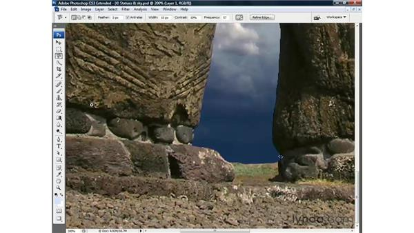 Remaking corners with the Magnetic Lasso: Photoshop CS3 Channels and Masks: The Essentials