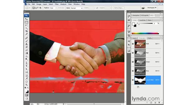 Meet the Quick Mask mode: Photoshop CS3 Channels and Masks: The Essentials