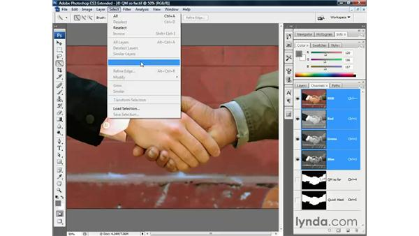 Quick Mask and Quick Selection: Photoshop CS3 Channels and Masks: The Essentials