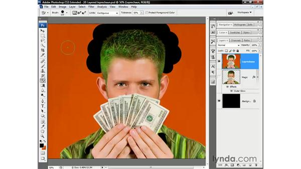 Using the Background Eraser: Photoshop CS3 Channels and Masks: The Essentials