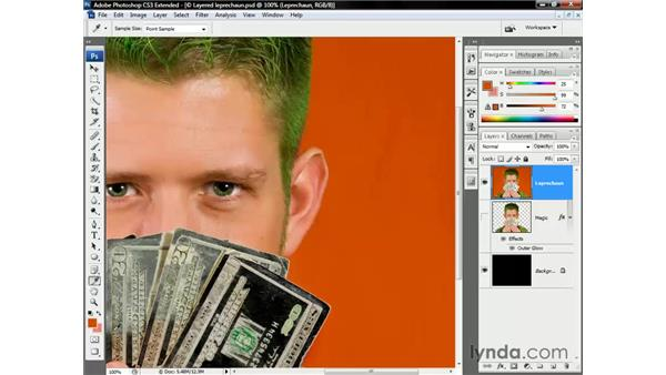 The power of partial extractions: Photoshop CS3 Channels and Masks: The Essentials
