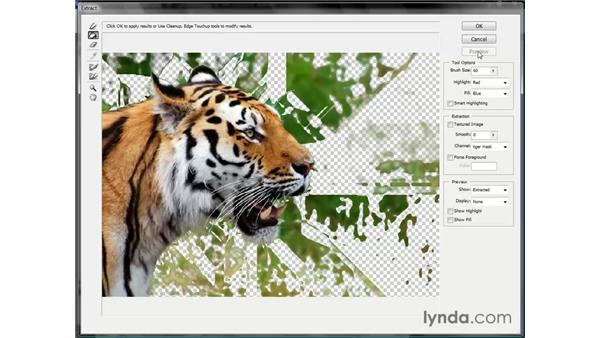 Extracting with an alpha channel: Photoshop CS3 Channels and Masks: The Essentials