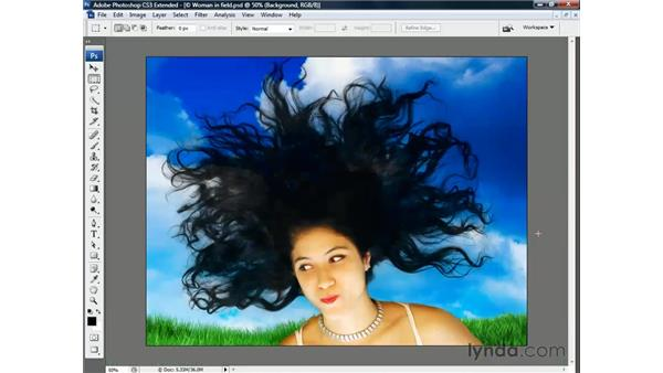 Trompe l'oeil with hair: Photoshop CS3 Channels and Masks: The Essentials