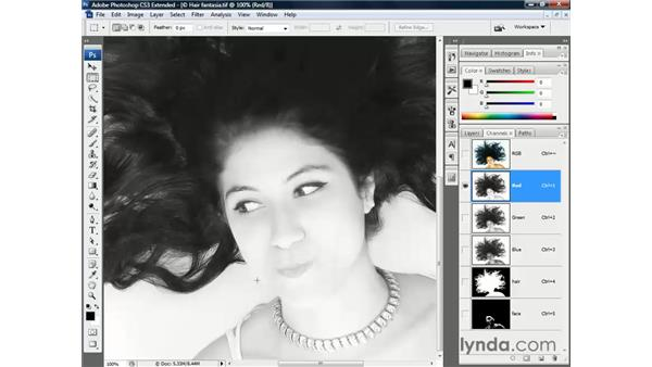 Choosing a base channel: Photoshop CS3 Channels and Masks: The Essentials