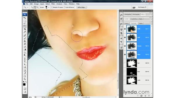Fixing the rough patches: Photoshop CS3 Channels and Masks: The Essentials