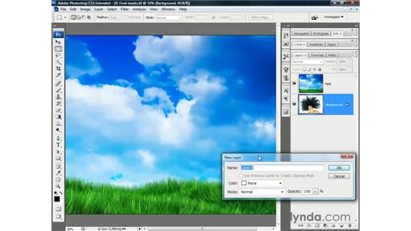 Blending hair and sky: Photoshop CS3 Channels and Masks: The Essentials