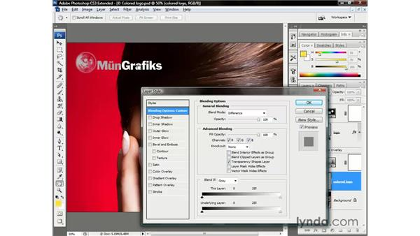 The amazing Difference logo: Photoshop CS3 Channels and Masks: The Essentials