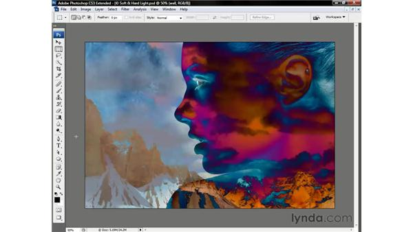 The two inversion modes: Photoshop CS3 Channels and Masks: The Essentials