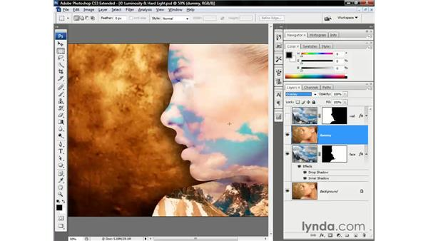 Combining the effects of two blend modes: Photoshop CS3 Channels and Masks: The Essentials