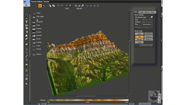 Using DEM files to create real-world terrain: Vue 6 xStream Essential Training