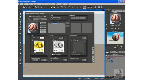 Creating basic materials: Vue 6 xStream Essential Training