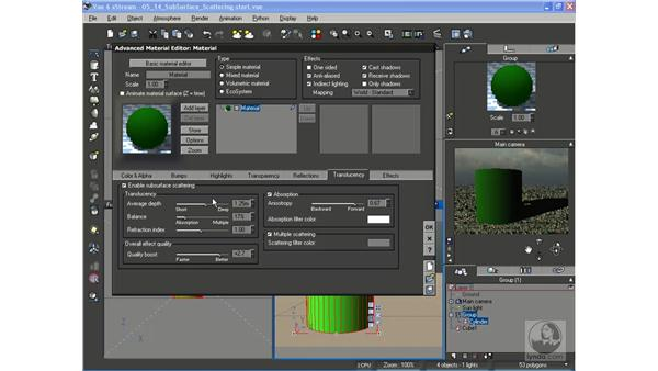 Sub-Surface Scattering: Vue 6 xStream Essential Training