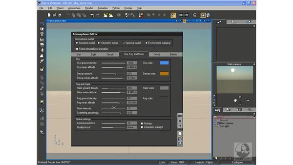 Editing sky, fog, and haze: Vue 6 xStream Essential Training