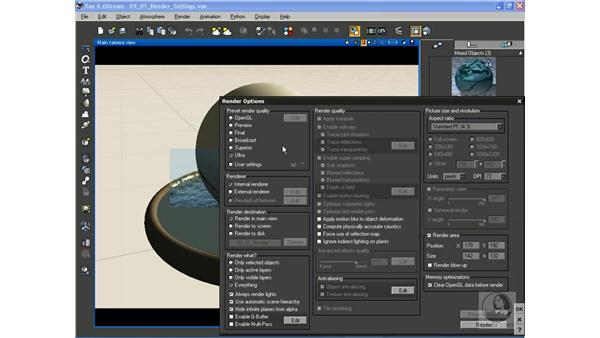 Setting render quality: Vue 6 xStream Essential Training