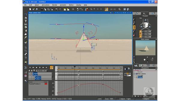Editing animation curves: Vue 6 xStream Essential Training