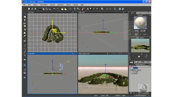 Creating and exporting terrain: Vue 6 xStream Essential Training