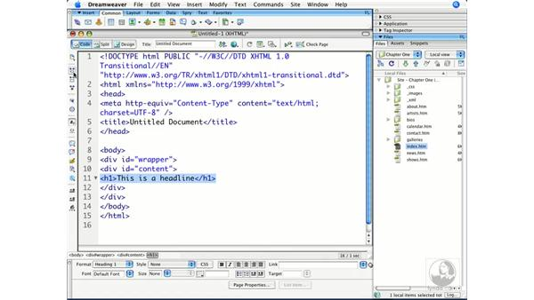 Reviewing the Coding toolbar: Dreamweaver CS3 Beyond the Basics