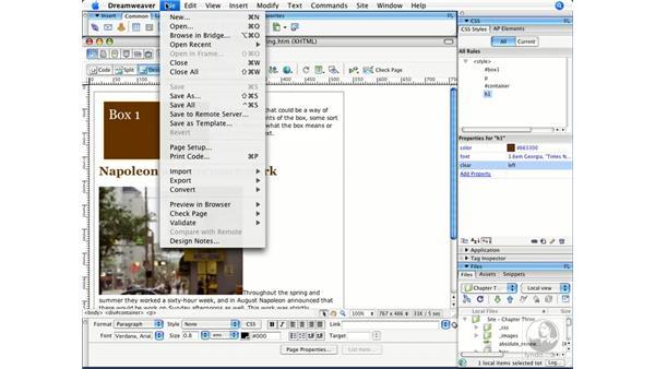 Clearing floats: Dreamweaver CS3 Beyond the Basics