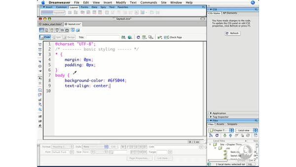 Applying basic styling to structured content: Dreamweaver CS3 Beyond the Basics