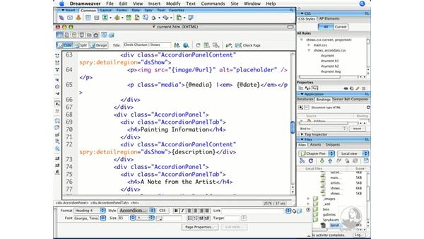 Understanding Spry widget structures: Dreamweaver CS3 Beyond the Basics