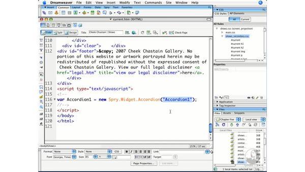 Controlling Spry widget behaviors with JavaScript: Dreamweaver CS3 Beyond the Basics