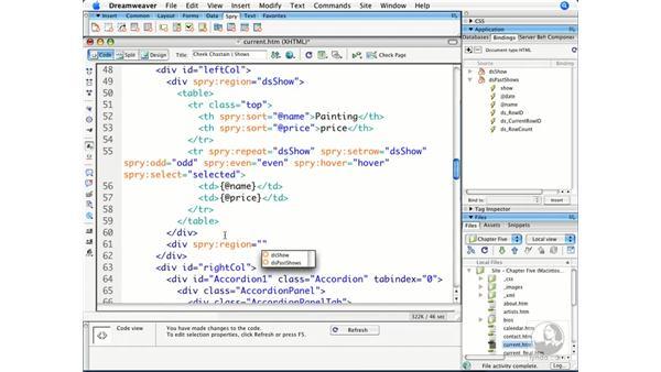Hand-coding Spry: Dreamweaver CS3 Beyond the Basics