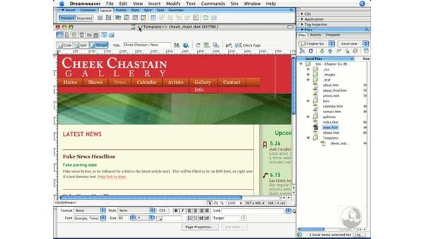 Creating a base template: Dreamweaver CS3 Beyond the Basics