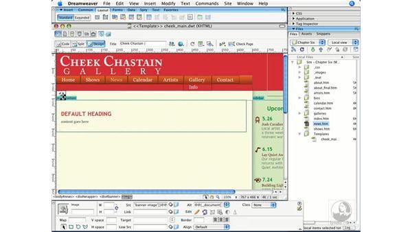 Creating editable attributes: Dreamweaver CS3 Beyond the Basics