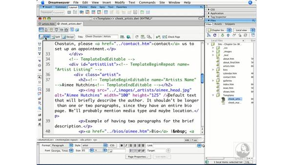 Using repeating regions: Dreamweaver CS3 Beyond the Basics