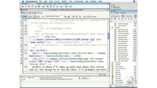 Using template expressions: Dreamweaver CS3 Beyond the Basics