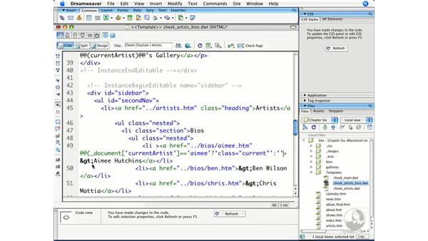 Using conditional template expressions: Dreamweaver CS3 Beyond the Basics