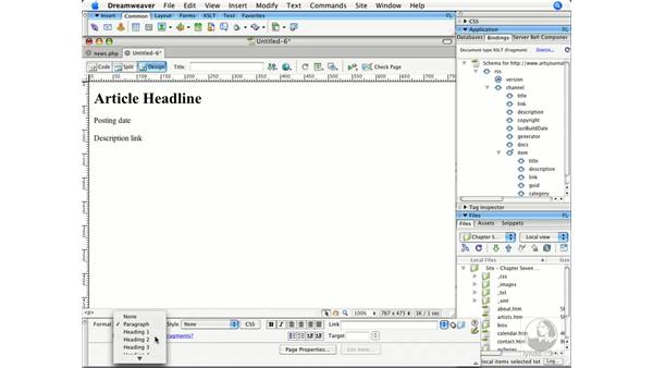 Styling a remote RSS feed: Dreamweaver CS3 Beyond the Basics