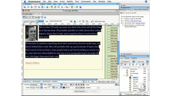 Filtering database records: Dreamweaver CS3 Beyond the Basics