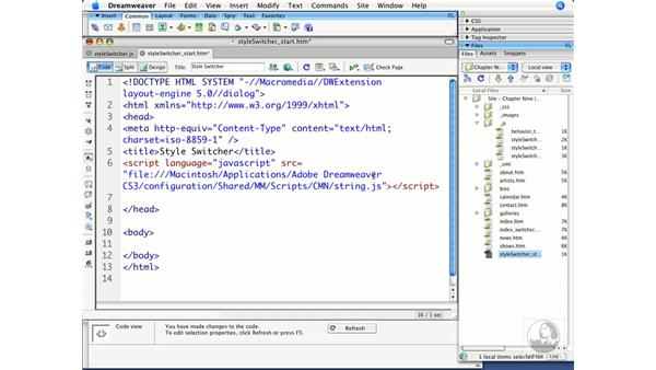 Creating an Action file: Dreamweaver CS3 Beyond the Basics