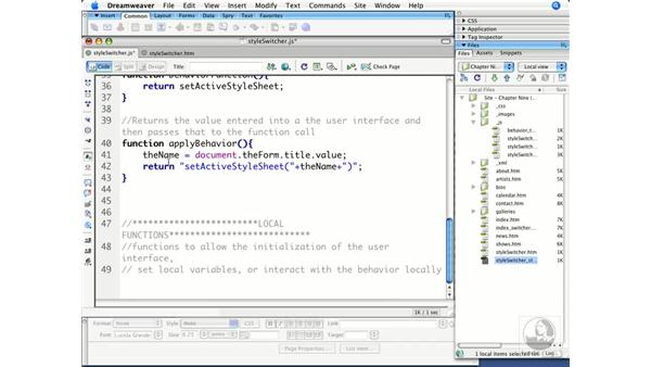 Enabling behavior functions: Dreamweaver CS3 Beyond the Basics