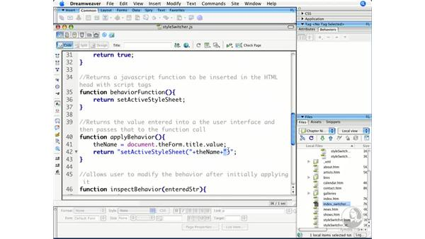 Testing and debugging behaviors: Dreamweaver CS3 Beyond the Basics