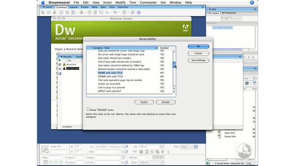 Running reports: Dreamweaver CS3 Beyond the Basics