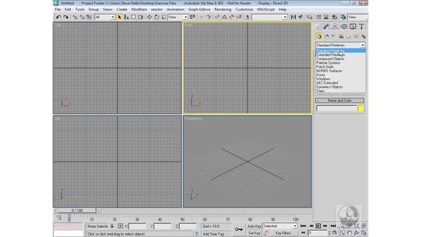 Introducing the interface: 3ds Max 9 Modeling
