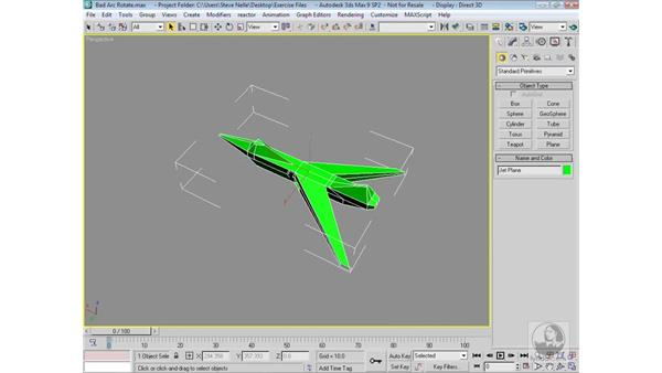 Arc rotation options: 3ds Max 9 Modeling