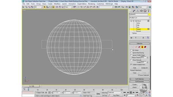 Sub-object selection methods: 3ds Max 9 Modeling