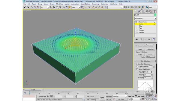 The Soft Selection feature: 3ds Max 9 Modeling