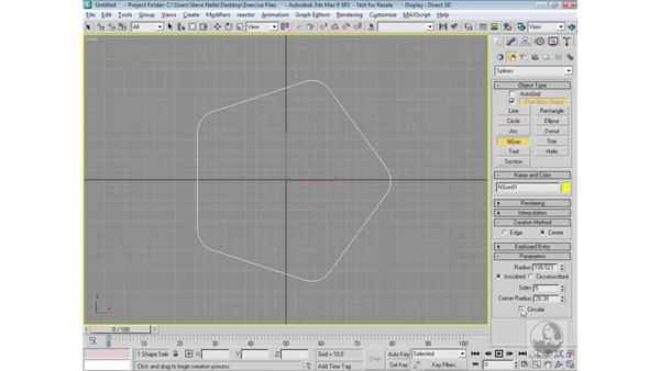 Creating shapes: 3ds Max 9 Modeling
