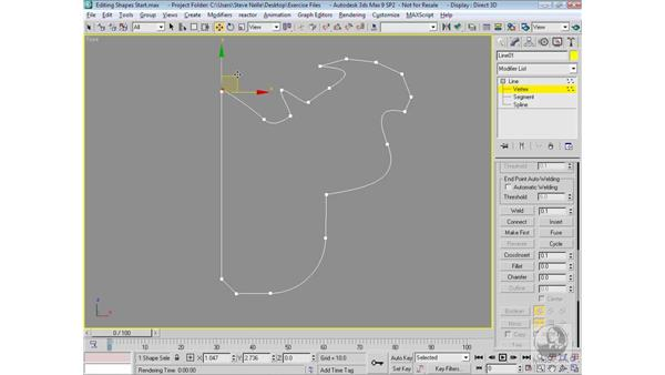 Editing shapes commands: 3ds Max 9 Modeling