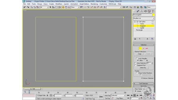 Edit Spline vs. Editable Spline: 3ds Max 9 Modeling