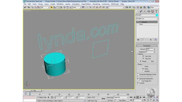 Drawing a shape to extrude: 3ds Max 9 Modeling