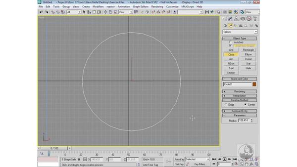Start New Shape and attaching shapes: 3ds Max 9 Modeling
