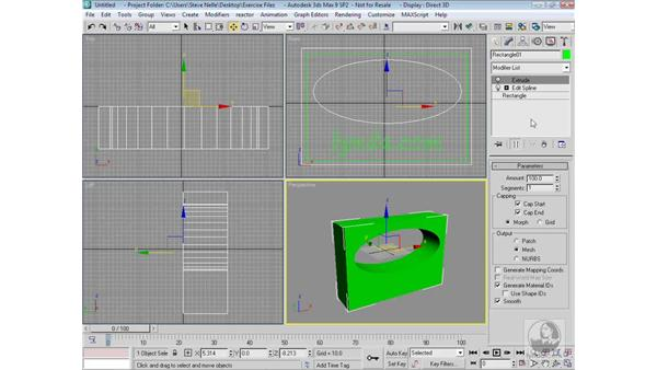 Creating a nested shape logo: 3ds Max 9 Modeling