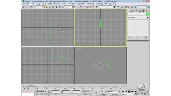 Lathing a shape: 3ds Max 9 Modeling